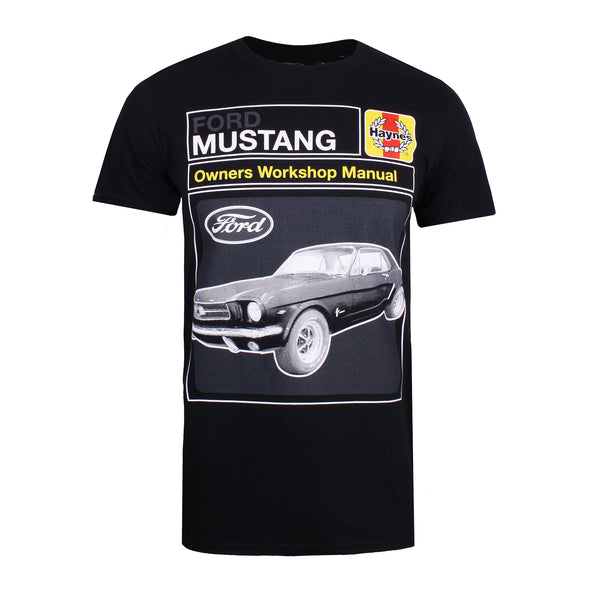Ford Mens - Haynes X Ford Mustang Workshop - T-Shirt - Black