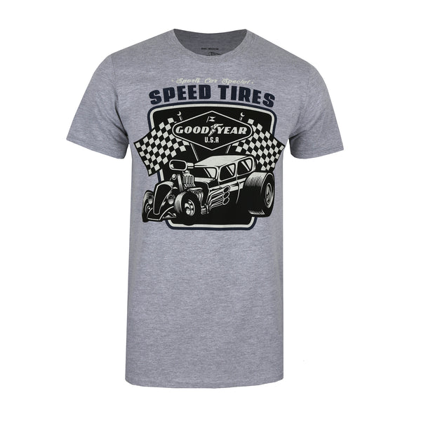Goodyear Mens - Speed Tires - T-Shirt - Grey