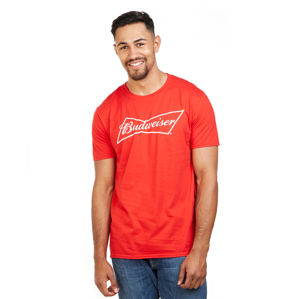 Budweiser Mens - Bow - T-Shirt - Red