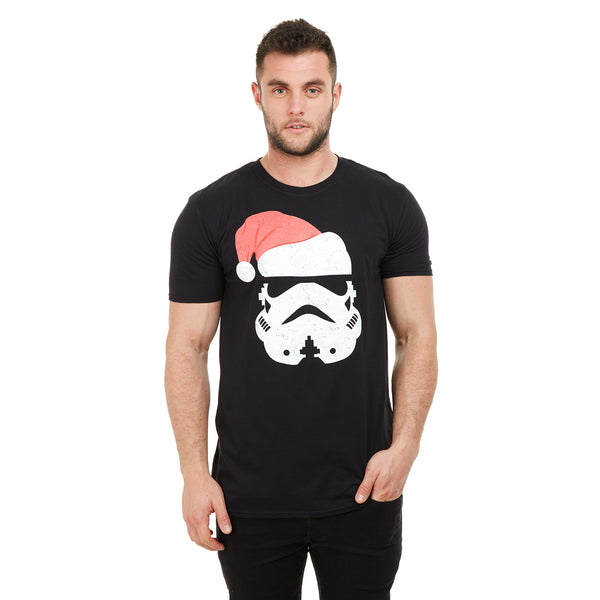 Star Wars Mens - Trooper Santa - T-shirt - Black