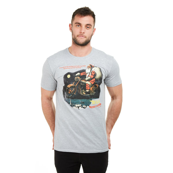 BSA Mens - BSA Santa - T-shirt - Grey Heather