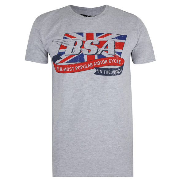 BSA Mens - Flag Logo - T-shirt - Sports Grey
