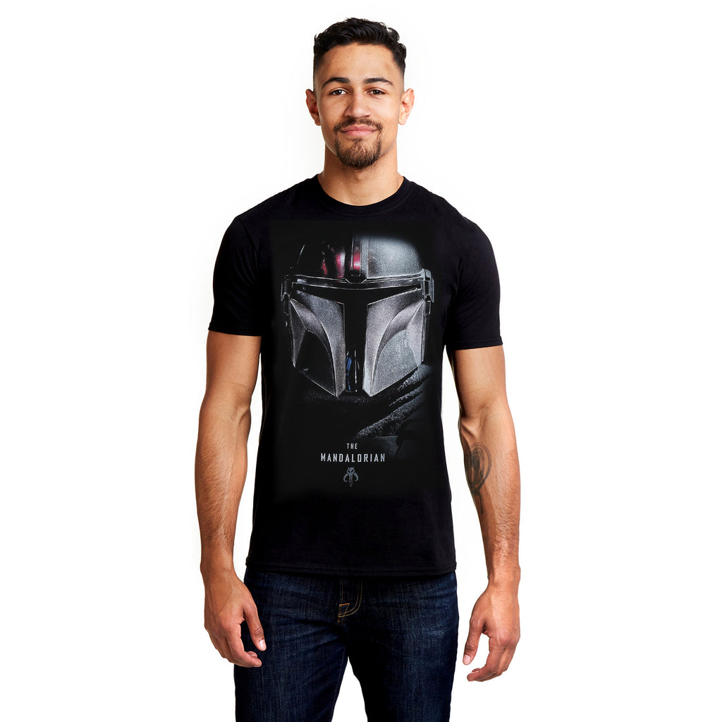 Star Wars Mandalorian Mens - Shadows - T-shirt - Black
