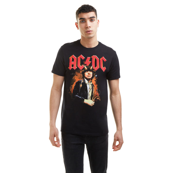 AC/DC Mens - Fire And Horns - T-Shirt - Black