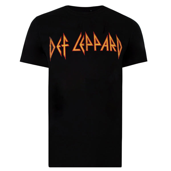 Def Leppard Mens - Logo - T-Shirt - Black