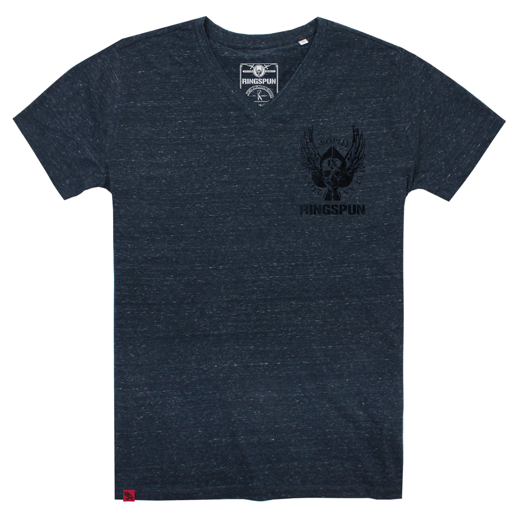 Ringspun Mens - Spades - T-shirt - Dark Heather Denim