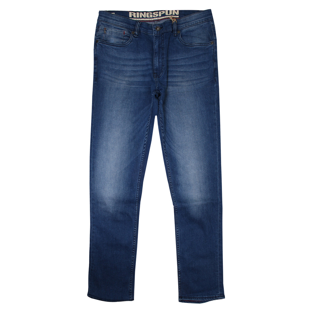 Ringspun Mens - Lunar (Long Fit) - Denim Jeans - True Blue