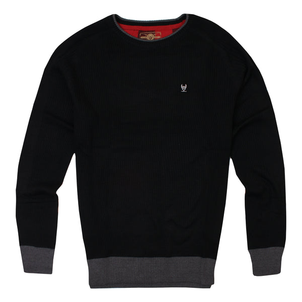 Ringspun Mens - Rizzo - Knit Jumper - Black