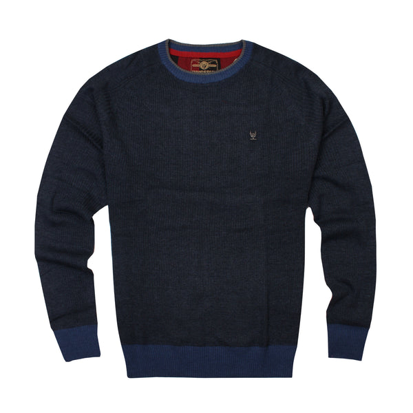 Ringspun Mens - Rizzo - Knit Jumper - Navy