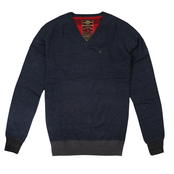 Ringspun Mens - Raleigh - Knit Jumper - Navy