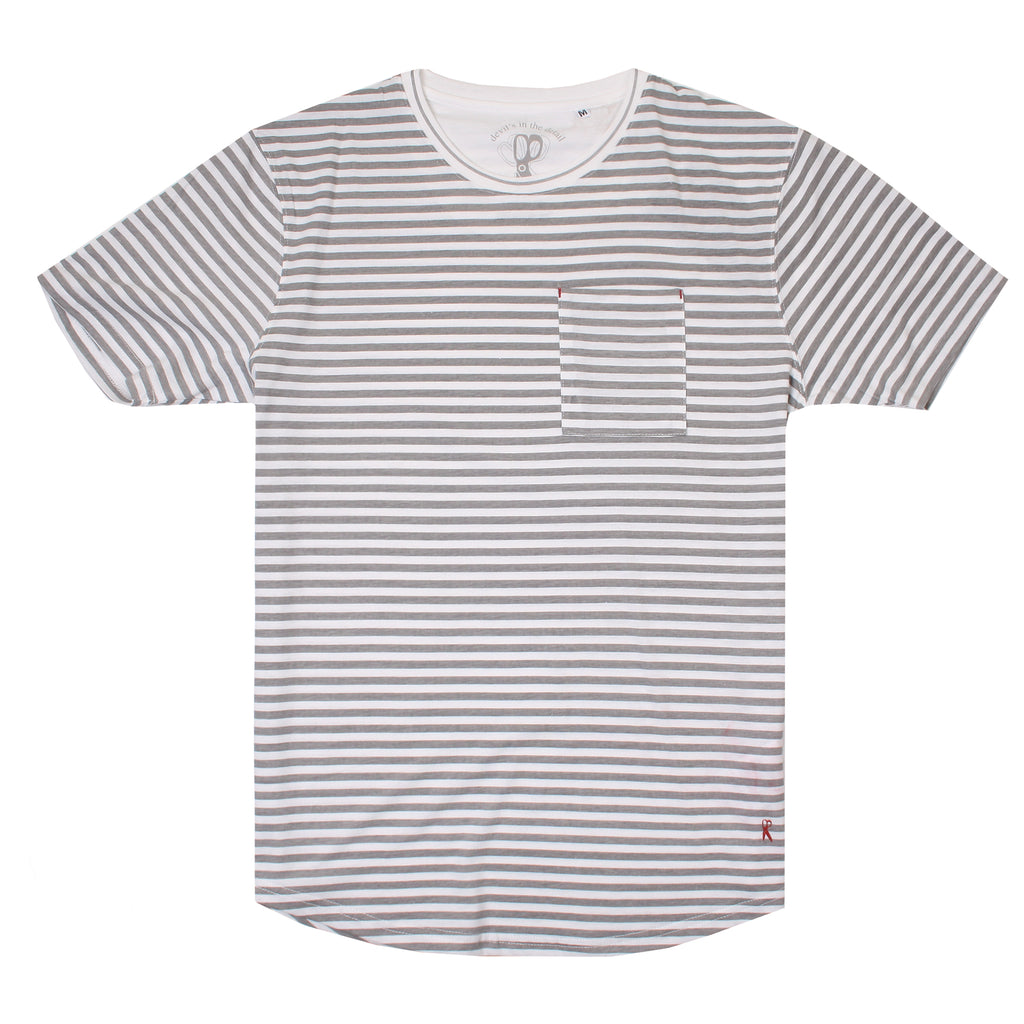 Ringspun Mens - Shifty - T-shirt - Off-white/Grey