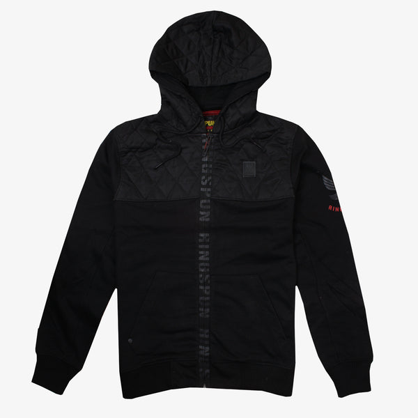 Ringspun Mens - Harvington - Zip Hood - Black