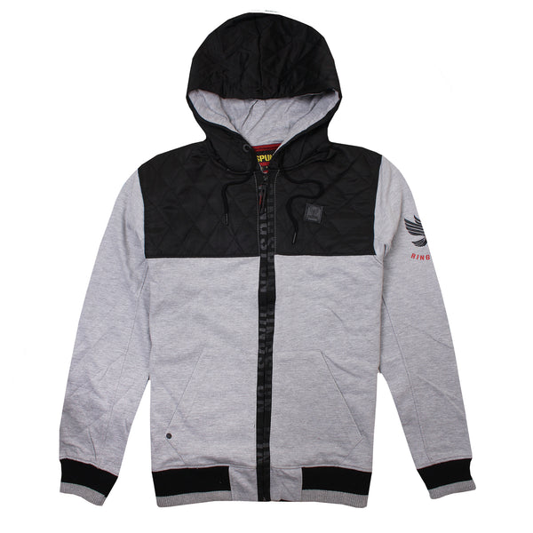 Ringspun Mens - Harvington - Zip Hood - Grey Marl