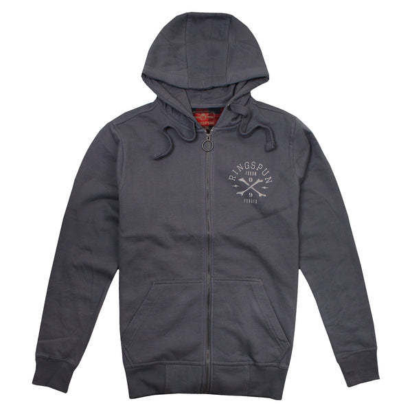 Ringspun Mens - Ratchet - Zip Hood - Grey