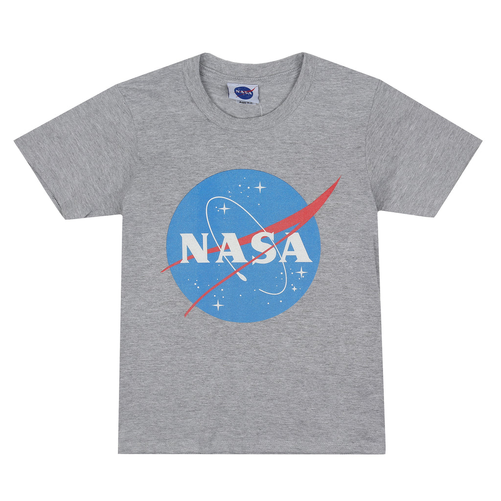 NASA Kids - Original Logo - T-shirt - Grey Marl