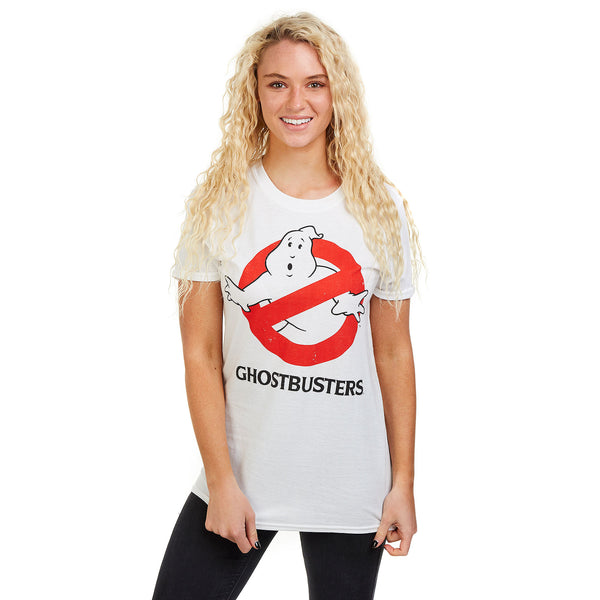 Ghostbusters Ladies - Logo - T-Shirt - White