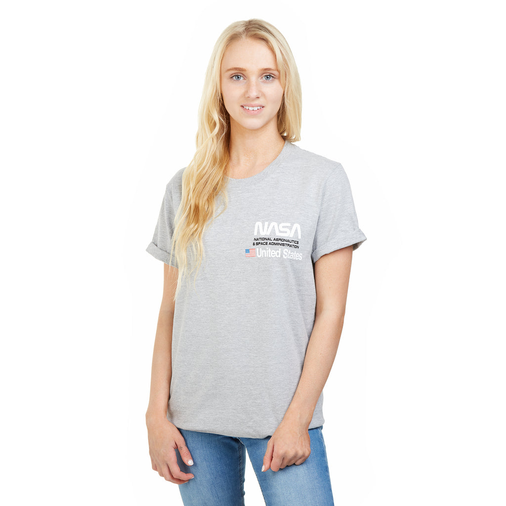 NASA Ladies - Aeronautics - T-Shirt - Grey Heather