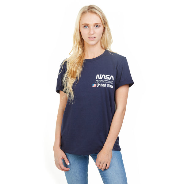 NASA Ladies - Aeronautics - T-Shirt - Navy