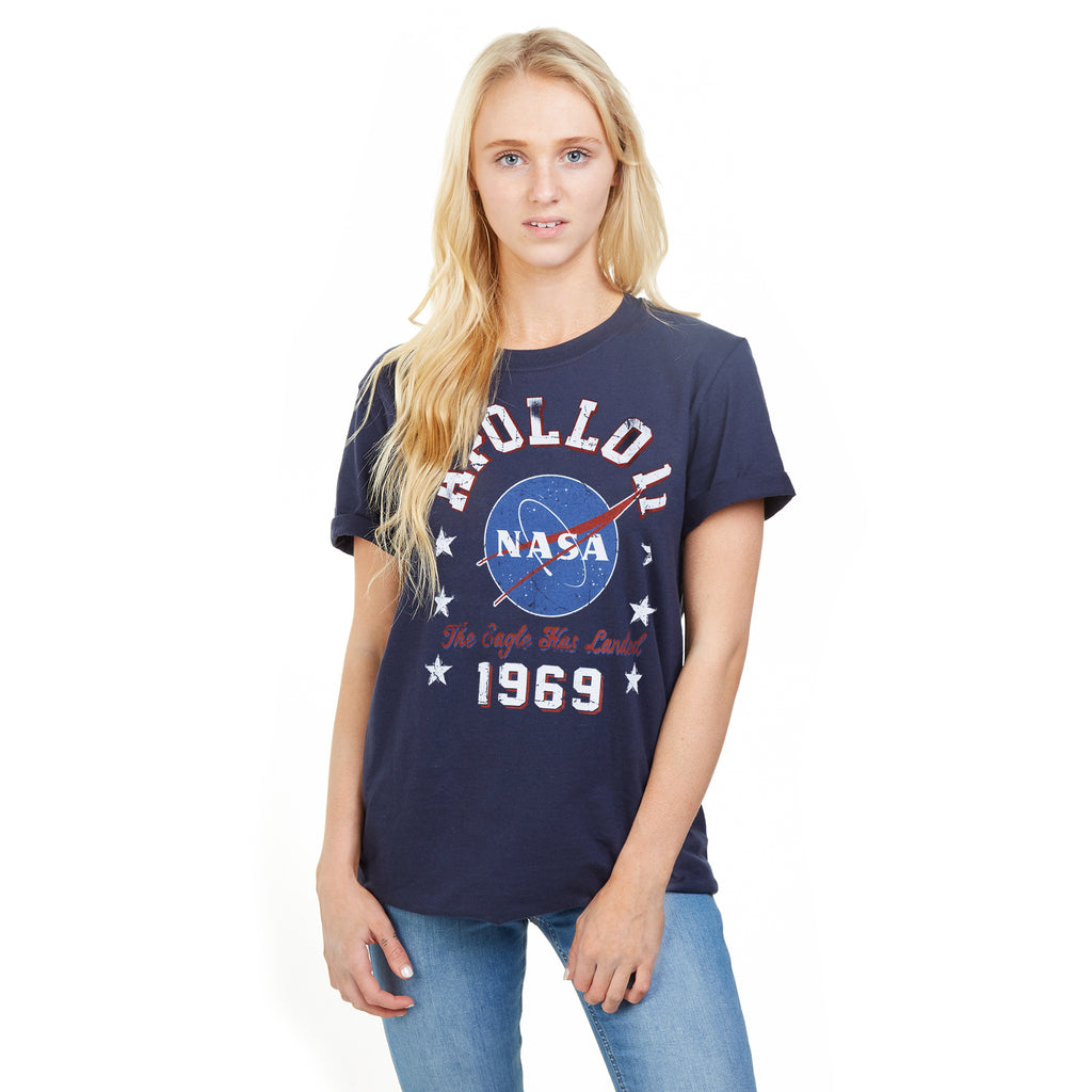 NASA Ladies - NASA 1969 - T-Shirt - Navy