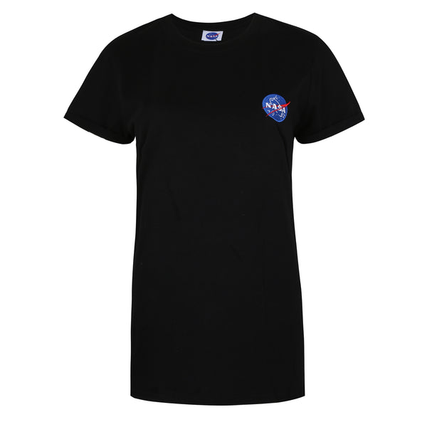 NASA Ladies - NASA Meatball Embroidery - T-shirt - Black