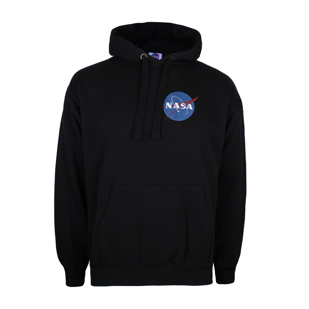 Nasa Mens - Small Core Logo - Pullover Hoodie - Black