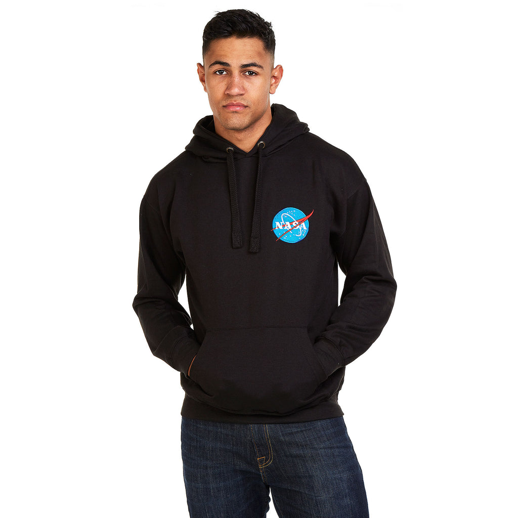 NASA Mens - Embroidered Logo - Pullover Hood - Black