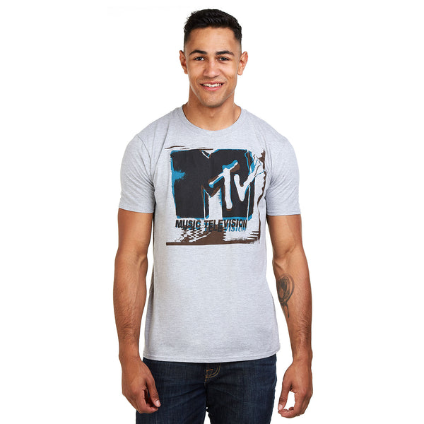 MTV Mens - Glitch - T-Shirt - Grey Heather - CLEARANCE