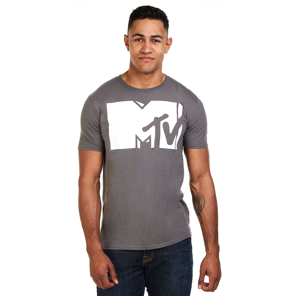 MTV Mens - Classic - T-Shirt - Charcoal