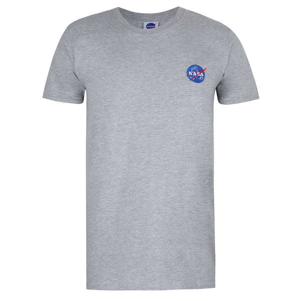 NASA Mens - NASA Meatball Embroidery - T-shirt - Sport Grey