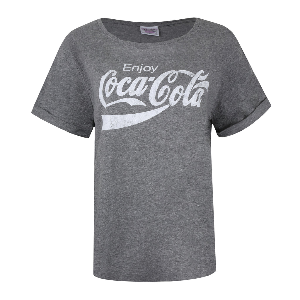 Truffle Shuffle Ladies - Enjoy Coca Cola - T-shirt - Graphite Heather