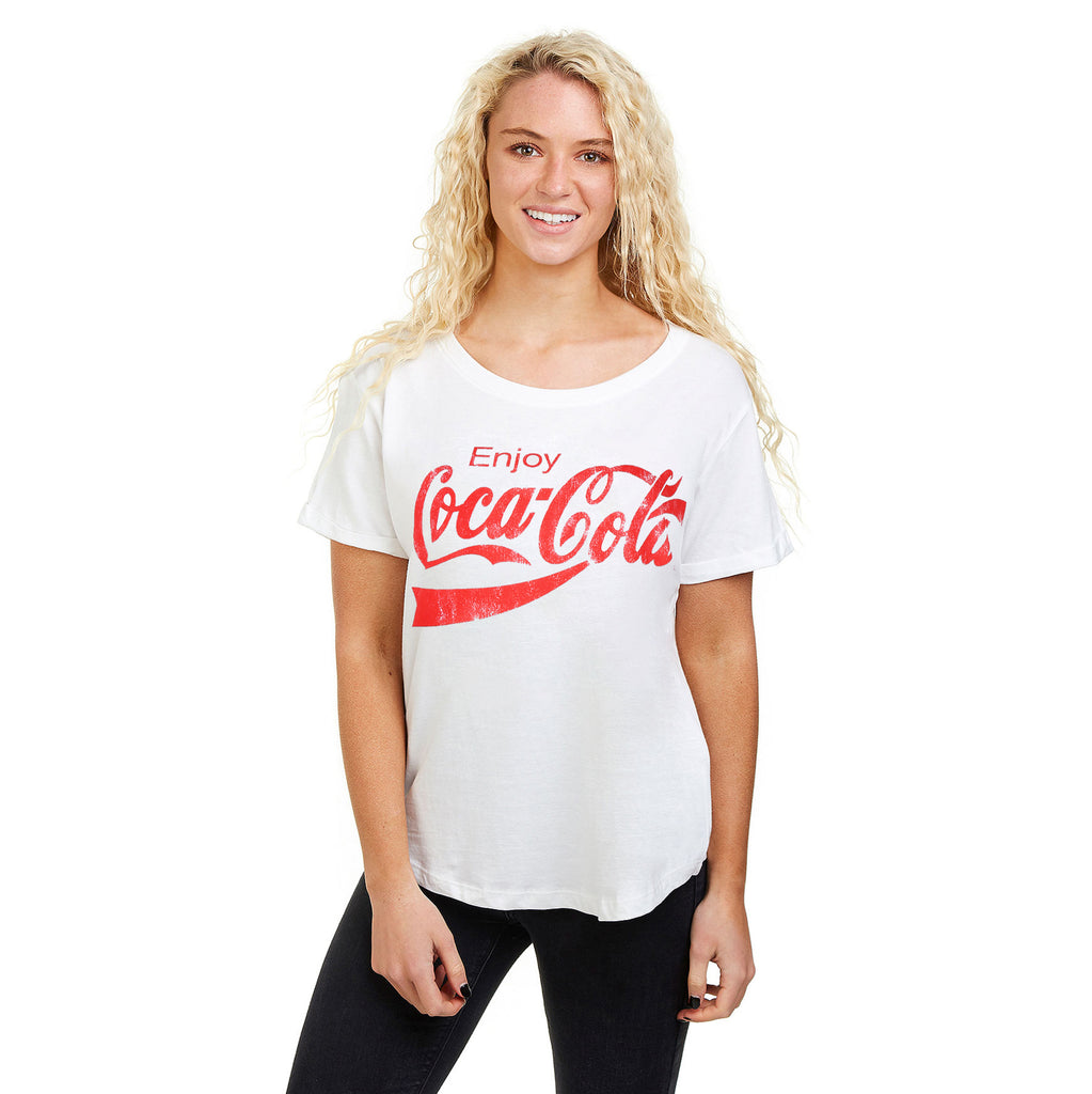 Truffle Shuffle Ladies - Enjoy Coca Cola - T-shirt - White