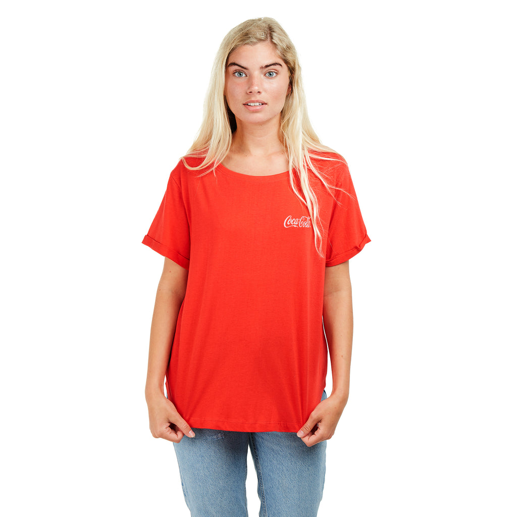 Truffle Shuffle Ladies - Coca Cola Core Logo - T-shirt - Red