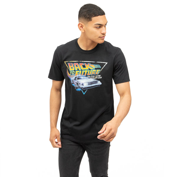 Back to the Future Mens - Tour - T-shirt - Black