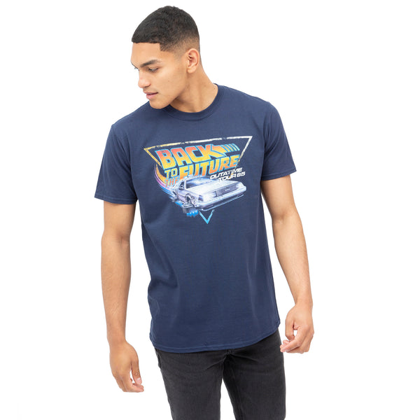 Back to the Future Mens - Tour - T-shirt - Navy