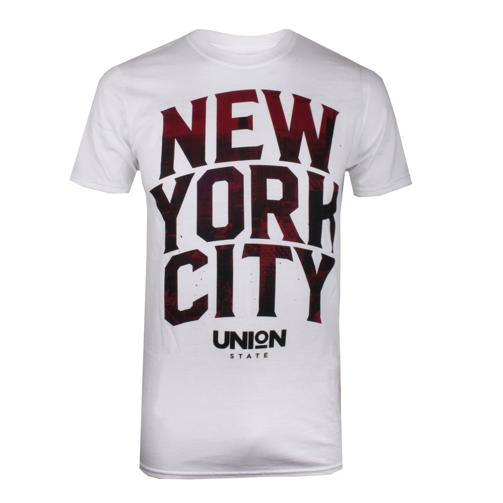 Union State Mens - New York City - T-shirt - White - CLEARANCE