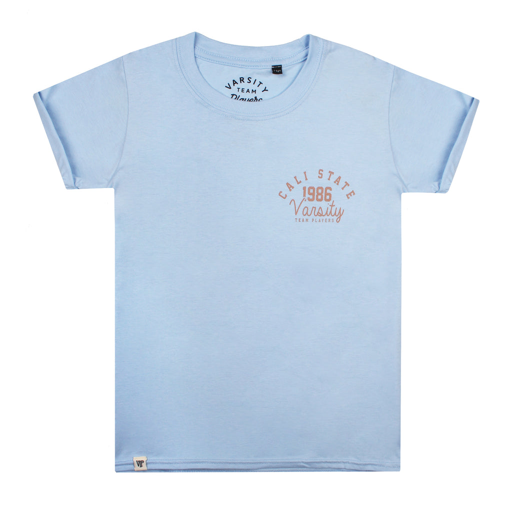 Varsity Girls - Cali State - T-Shirt - Light Blue
