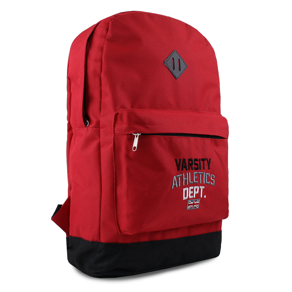 Varsity Mens - New Skool - Backpack - Red/ Black - CLEARANCE