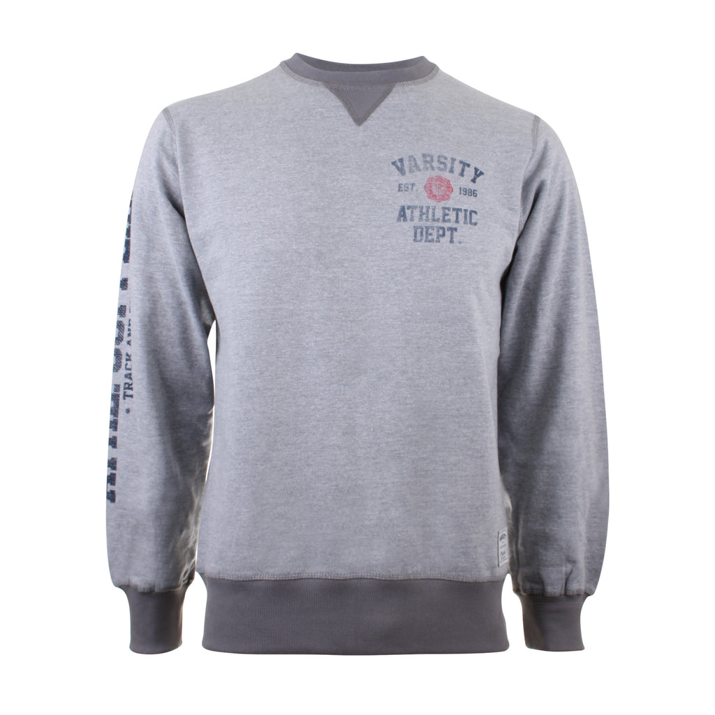 Varsity Mens - Athletic Dept. - Crew Sweat - Grey Heather - CLEARANCE