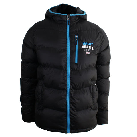 Varsity Coach Jacket - Black/Blue