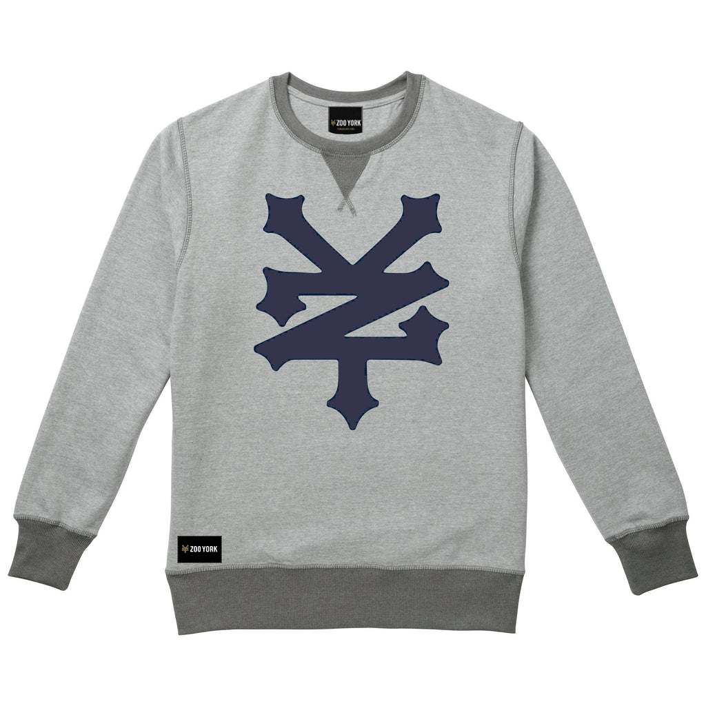 Zoo York Mens - Corning - Crew Sweat - Grey Heather - CLEARANCE