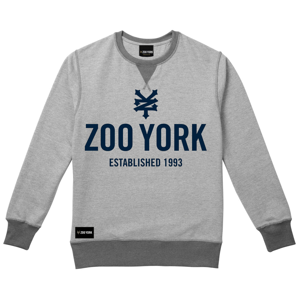 Zoo York Mens - Templeton - Crew Sweat - Grey Heather - CLEARANCE