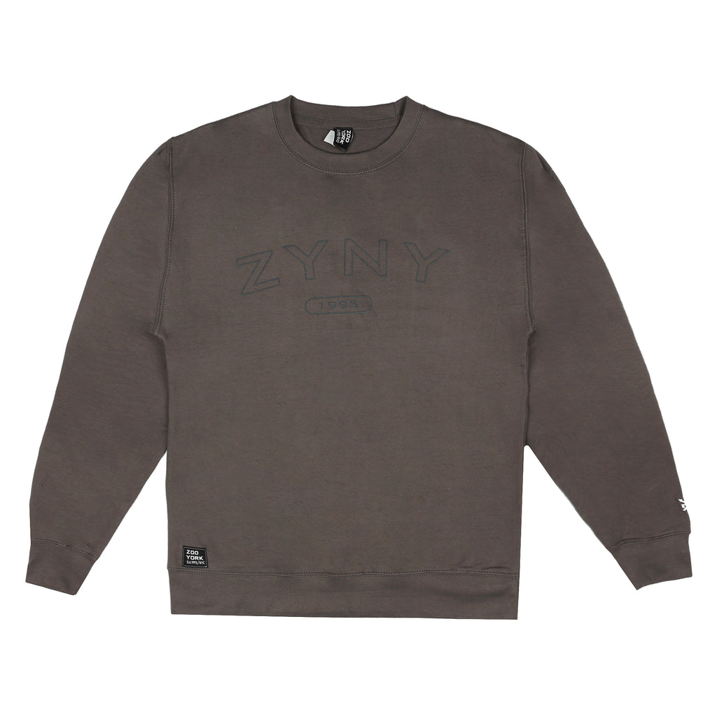 Zoo York Mens - Arch Bank - Crew Sweat - Steel Grey