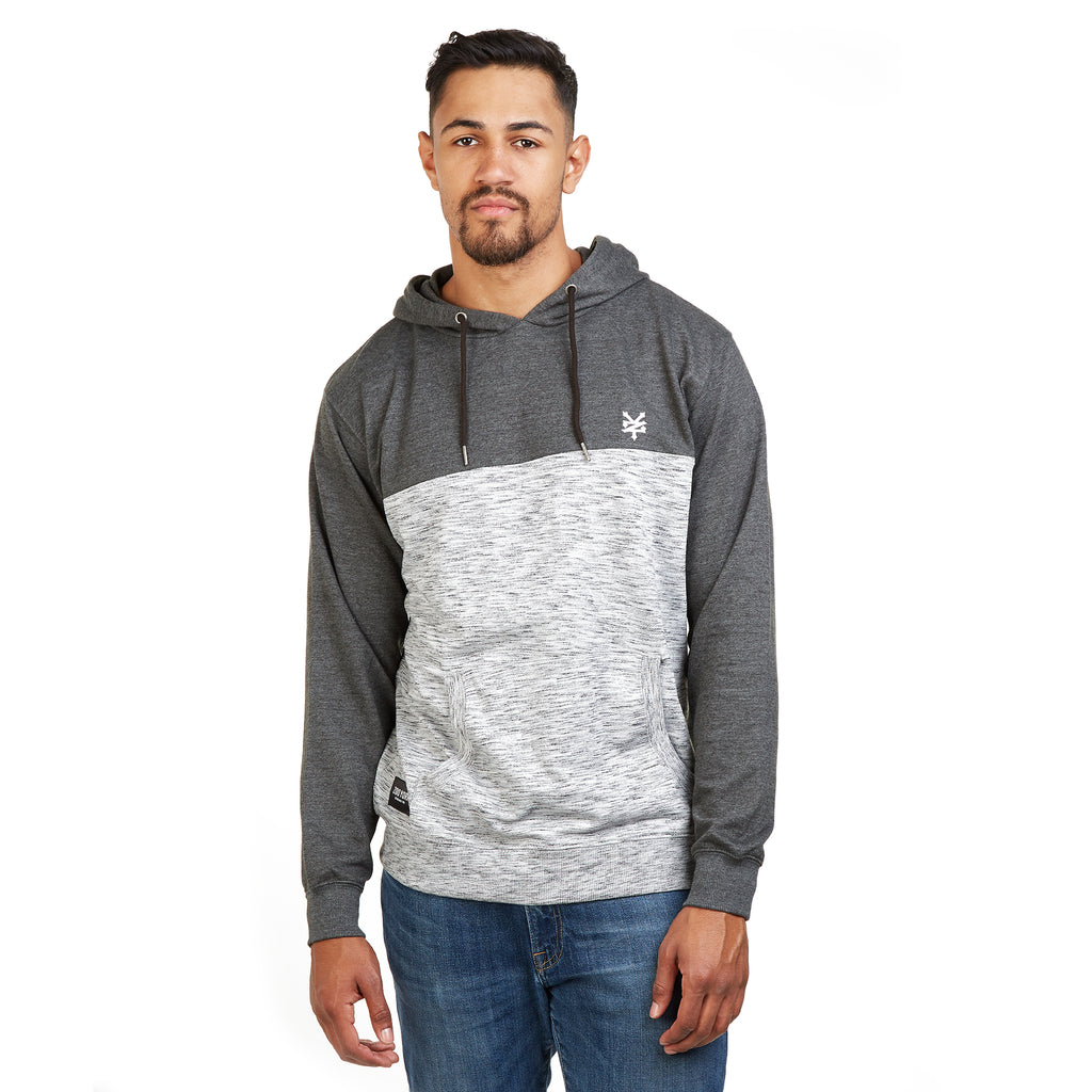 Zoo York Mens - Strasnice - Pullover Hood - Grey/Charcoal Heather