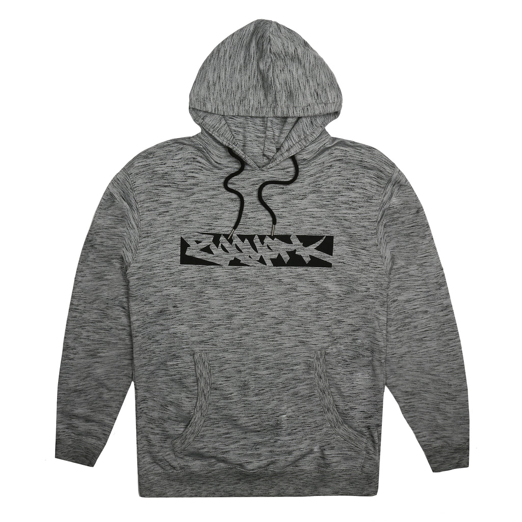 Zoo York Mens - Reverse Tag - Pullover Hood - Grey Space Dye