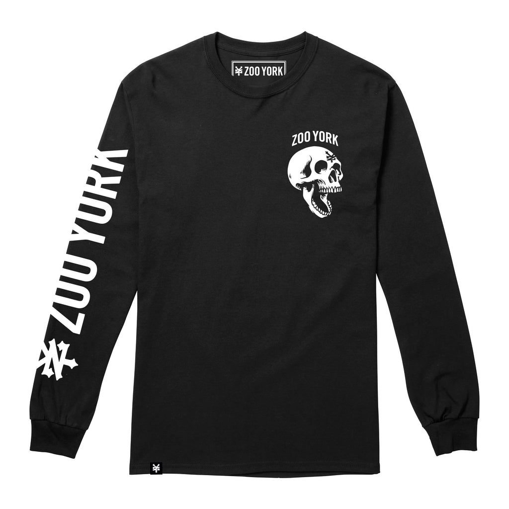 Zoo York Mens - Skeleton Head - Long Sleeve T-Shirt - Black