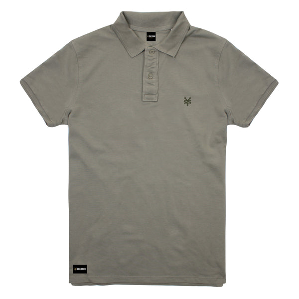 Zoo York Men's - Bay Street - Polo Shirt - Light Khaki - CLEARANCE