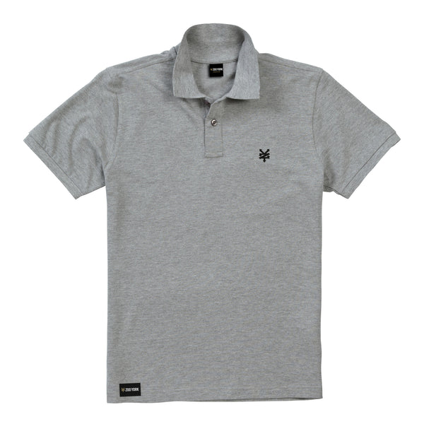 Zoo York Men's - Bay Street - Polo Shirt - Grey Marl - CLEARANCE