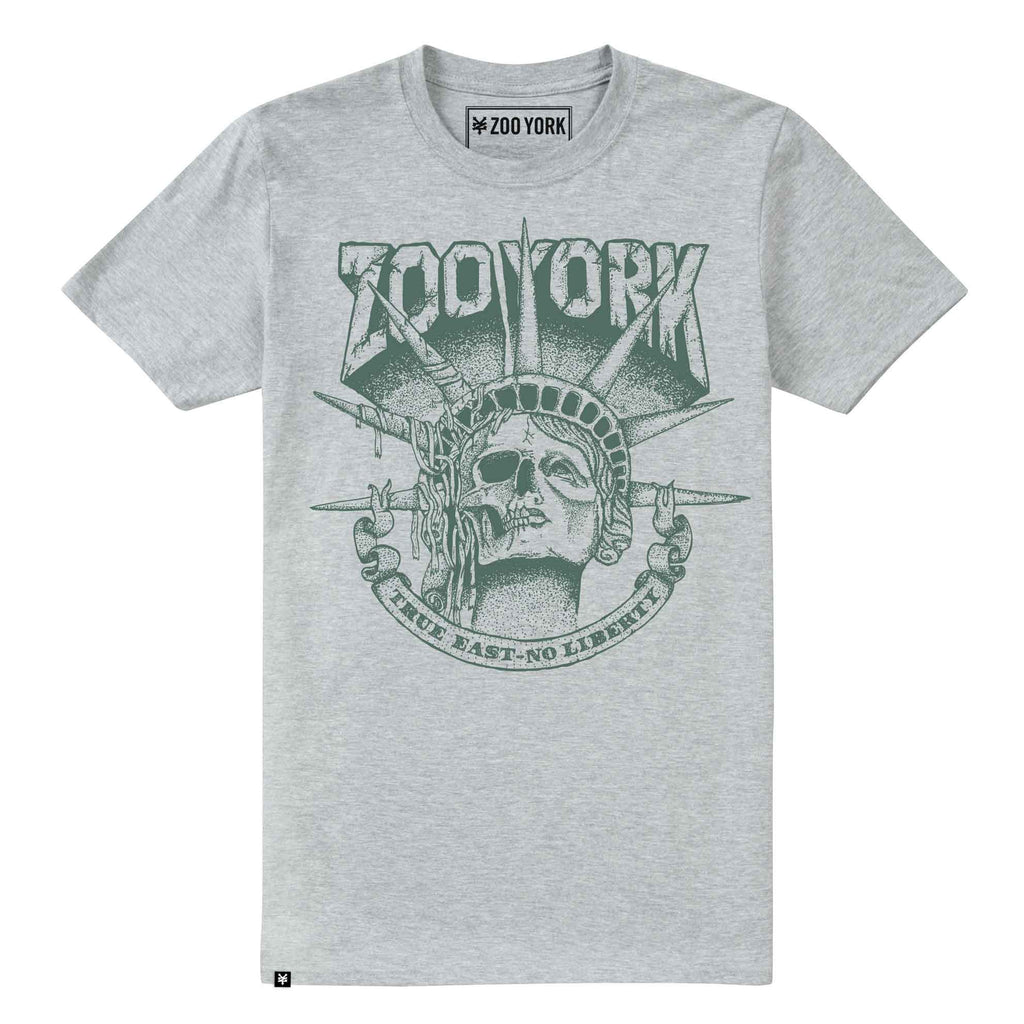 Streetwear Mens Death Of Liberty T-Shirt - Grey Heather