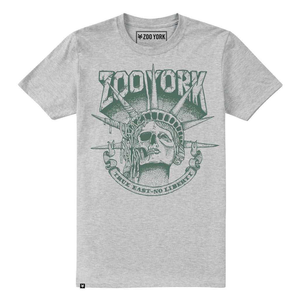 Zoo York Mens - Death Of Liberty - T-Shirt - Grey Heather