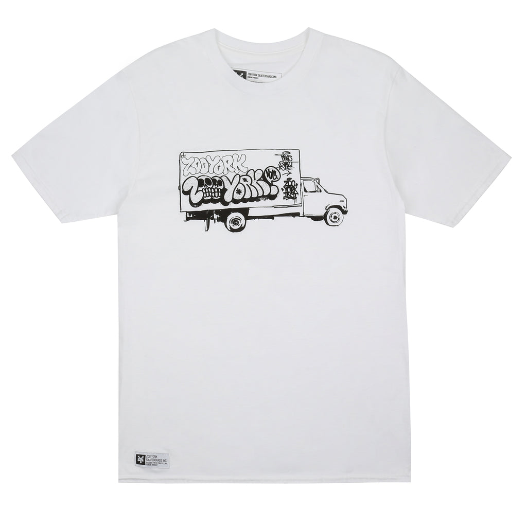 Zoo York Mens - Panel Truck - T-shirt - White